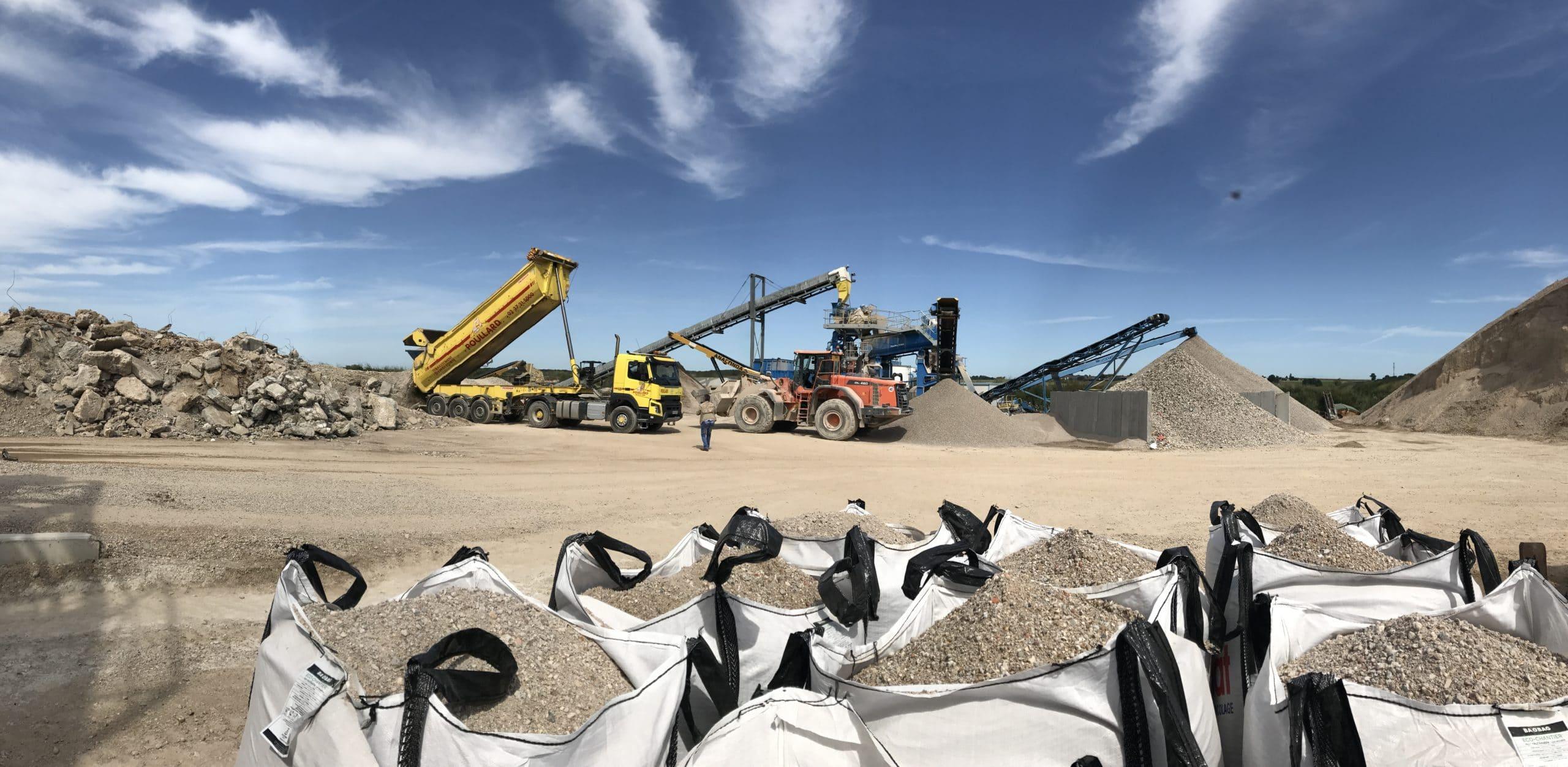 Granudem - Granulats et bétons recyclés - Site de transformation à Poisvilliers