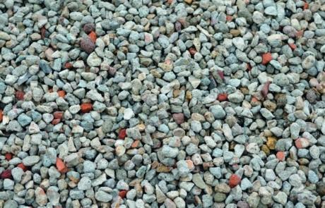 Granudem - Granulat et béton recyclés - Gravier recyclé - Photo du gravier recyclé et lavé - 2