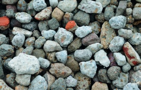 Granudem - Granulat et béton recyclés - Gravier recyclé - Photo du gravier recyclé et lavé